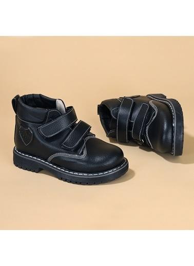 Kiko Kids Kiko şb 1512 Termo Taban Cırtlı Erkek Çocuk Bot Ayakkabı Siyah